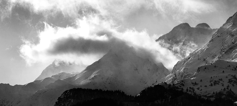 Bergwetter in der Nähe des Piz Lunghin