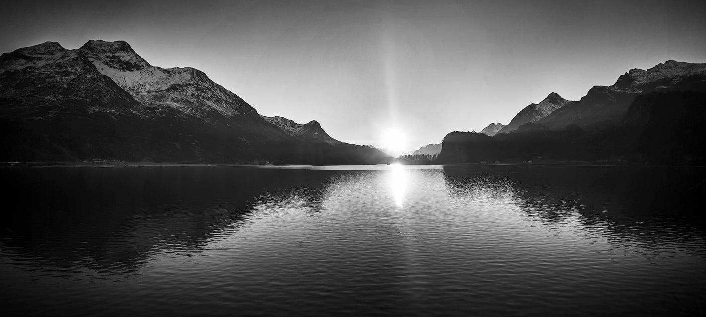 Sunset bei Sils