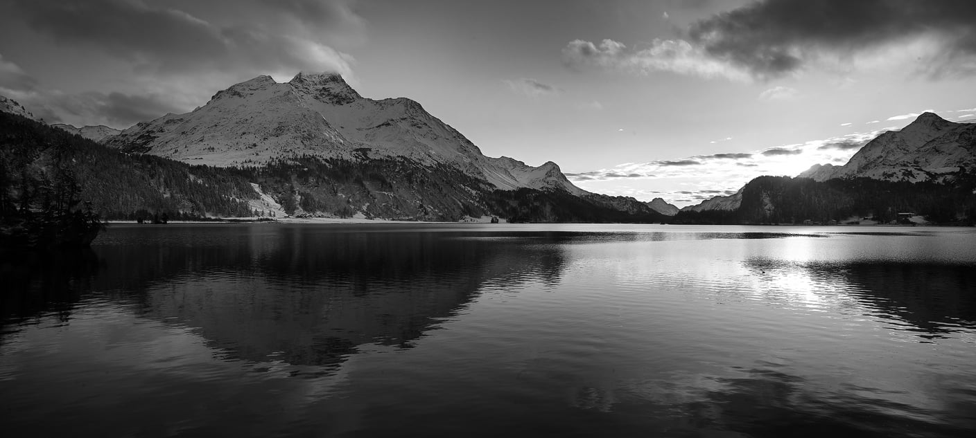 Piz da la Margna and Lake Sils.